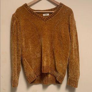 Mustard ASOS chenille knit sweater